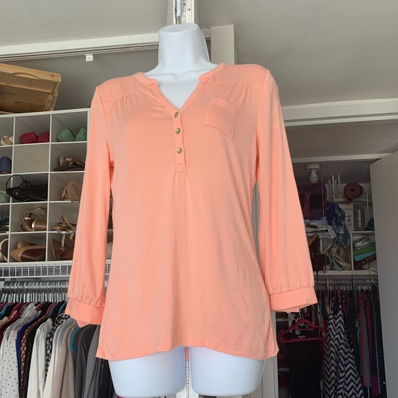 🌈 Peach long sleeved tee (2 for $10 promo)